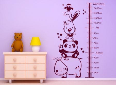 vinilo decorativo Infantiles medidor niño by Kriss