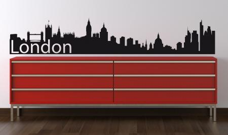 Vinilo decorativo Skyline Londres