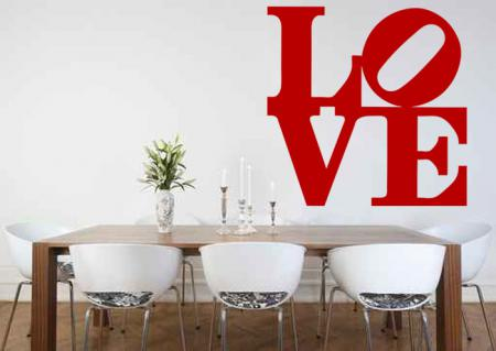 vinilo decorativo texto love