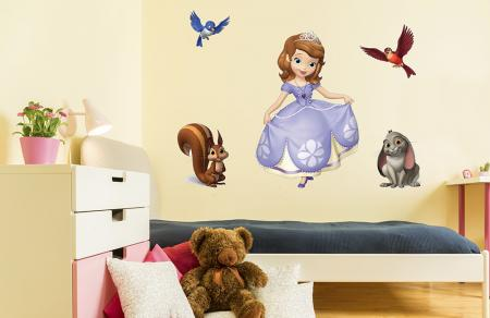 vinilo_decorativo_Princesa_Sofia_y_animalitos
