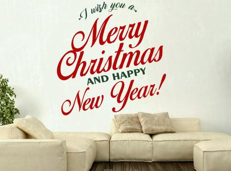 vinilo_decorativo_I_wish_you_a_Merry_Christmas