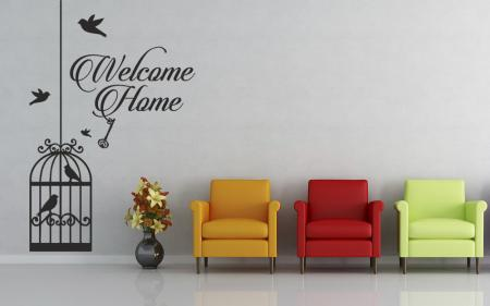 vinilo_decorativo_Welcome_Home_Jaula