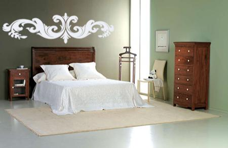 vinilo decorativo cabecero ornamental