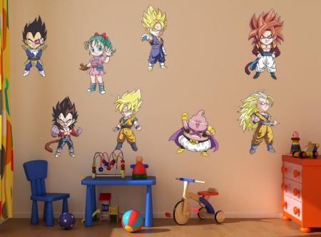 Vinilo decorativo Infantiles dragon ball kit.