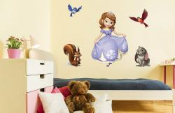 vinilo decorativo Princesa Sofia y animalitos