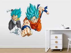 Vinilo decorativo Goku y Vegeta Dragon Ball Super
