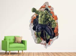 vinilo decorativo Hulk 3D con trampantojo