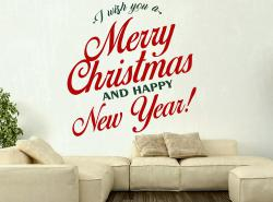 vinilo decorativo I wish you a Merry Christmas