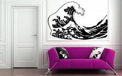 vinilo decorativo La Gran Ola de Kanawa