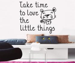 vinilo decorativo Take time to love