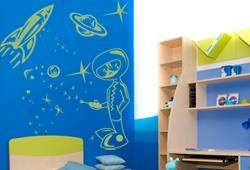 Vinilo Decorativo Infantiles Planetas Espacio