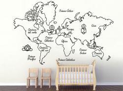 vinilo decorativo Mapa infantil pollitos