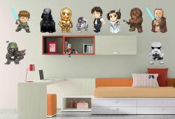 vinilo decorativo Stars Wars con Personajes Separados