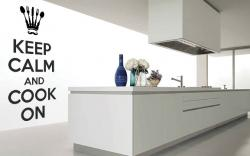 vinilo decorativo Keep Calm and Cook on