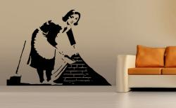 vinilo decorativo Sirvienta Graffity de Banksy