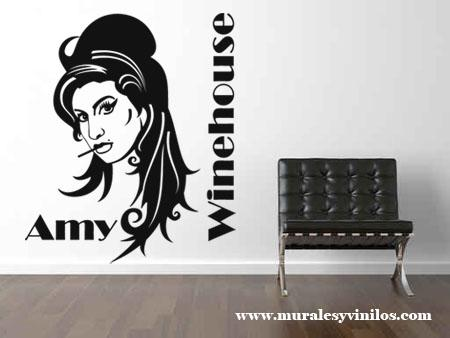 vinilo decorativo Silueta Amy Winehouse