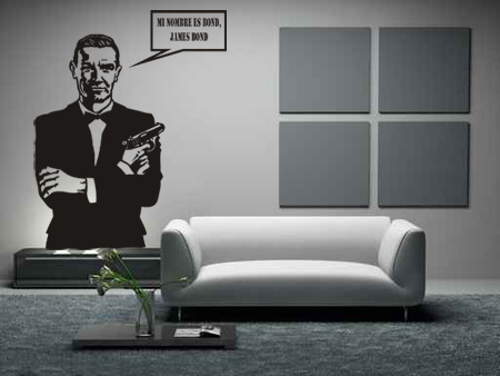 Vinilos Decorativos texto James Bond