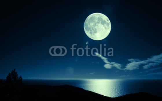 Foto mural luna y lago paisajes for Blue moon mural
