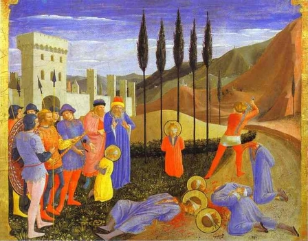 Fra_Angelico_-_San_Marco_Altarpiece;_The_Beheading_of_Cosmas_and_Damian.JPG