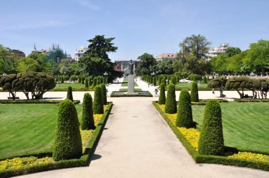 foto mural jardines del retiro madrid