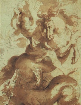 Rubens,_Peter_Paul_~_St_George_Slaying_the_Dragon_Pen_with_brown_ink_and_brown_wash_Louvre.jpg