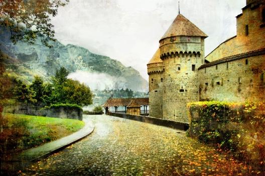 Foto mural castillo medieval monumentos for Definicion de pintura mural