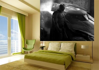 Foto mural batman junto al batmovil en la pelicula el for El mural pelicula online