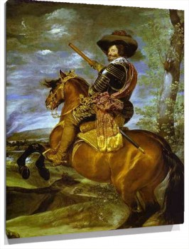 Lienzo Count-Duke of Olivares on Horseback