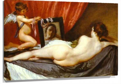Lienzo Venus at Her Mirror