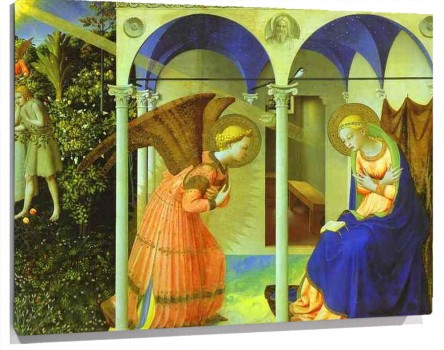 Lienzo Altarpiece of the Annunciation