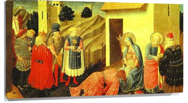 Lienzo Annunciation and Adoration of the Magi