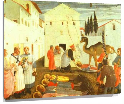 Lienzo Burial of Cosmas and Damian
