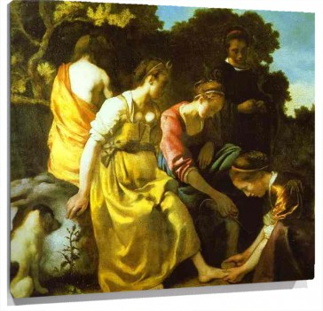 Lienzo Diana and Her Companions