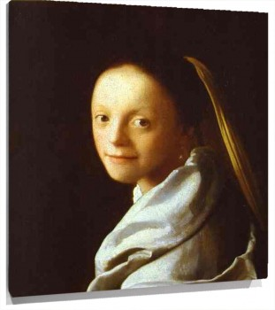 Lienzo Head of a Girl