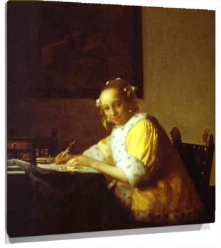Lienzo Lady Writing a Letter