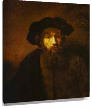 Lienzo A Bearded Man in a Beret