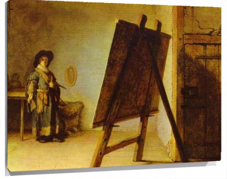 Lienzo An Artist in His Studio