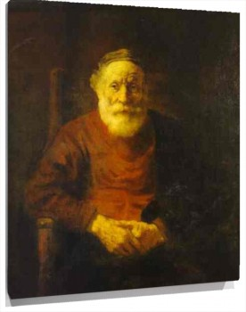 Lienzo An Old Man in Red