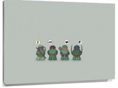 Lienzo Pensamientos De Las Tortugas ninja