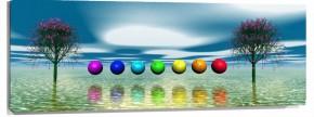 Murales Arboles y bolas de colores