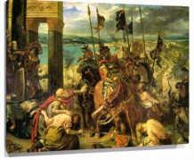 Lienzo Entry Of The Crusaders Into Constantinople