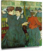 Lienzo At the Moulin Rouge, Two Women Waltzing