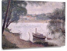 Lienzo Landscape with a Boat