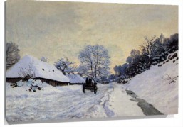 Lienzo a cart on the snow covered road
