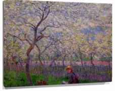 Lienzo an orchard in spring