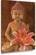 Lienzo Budha orquidea