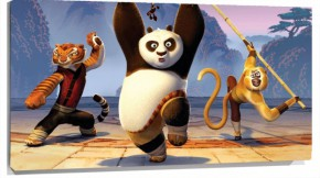 Lienzo kung fu panda