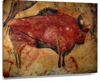 Lienzo pintura rupestre cuevas de altamira