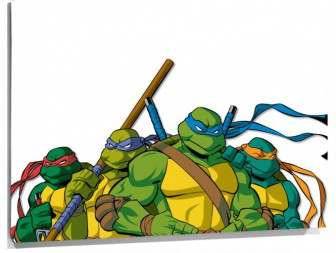 Lienzo Dibujo De Donatello Leonardo Michelangelo Raphael De Las Tortugas Ninja