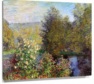 Lienzo Corner Of The Garden At Montgeron De Claude Monet